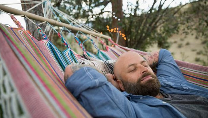 Man enjoying World Sleep day